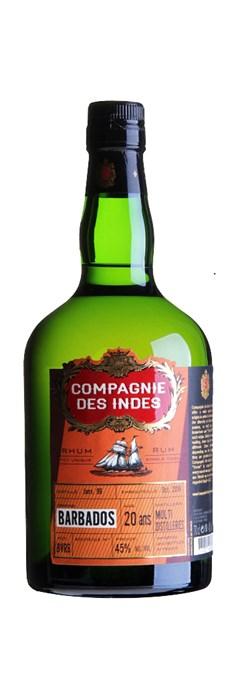 Compagnie des Indes Barbados 20 ans (Blend multi distilleries)